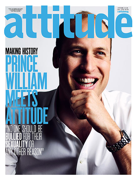 英王室首位 威廉王子登同性恋杂志封面