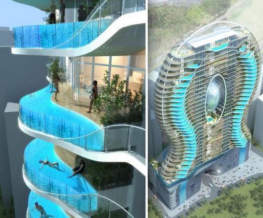 世界上最任性最奇葩的十大游泳池