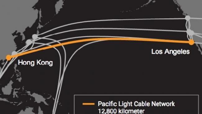 谷歌与脸书将携手中国修建跨太平洋光缆