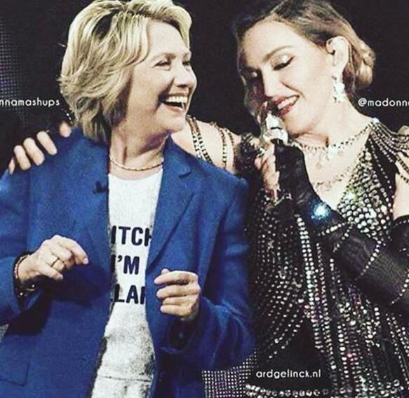 麦当娜演唱会喊话:为希拉里投票我就给你吹箫