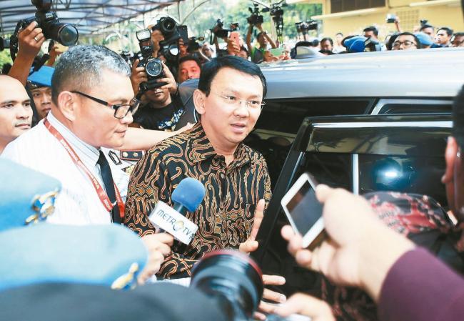 印尼华裔省长 遭9小时马拉松侦讯