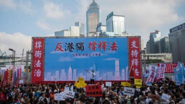 北京放话:不会坐视港独台独勾连搅局