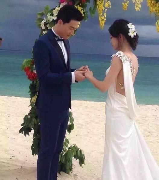 刘翔吴莎婚礼照曝光 两人在斐济完婚