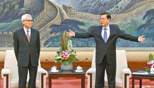 """张德江上演""""死亡拥抱"""" 公开对抗习核心"""
