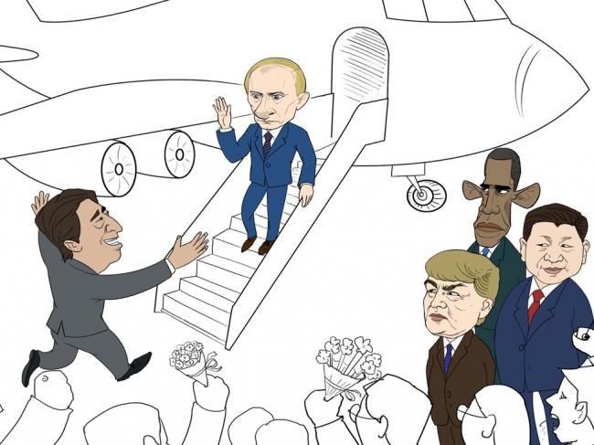 图文戏说安倍聪明外交如何得罪五位总统