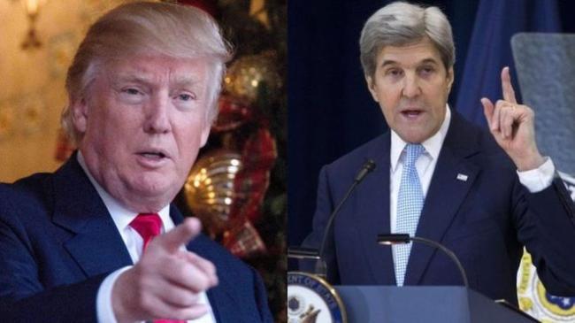 美国国务卿克里与川普就中东问题对呛