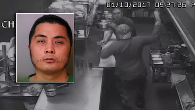 28岁华裔男子挥菜刀砍中餐馆老板夫妇
