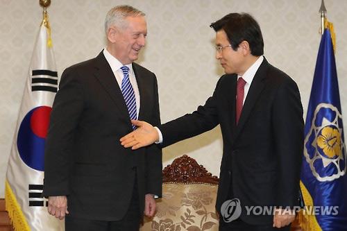 美防长首访韩称:只有朝鲜才需害怕萨德