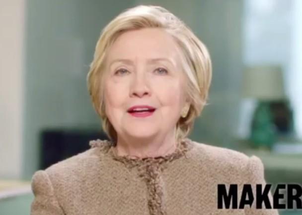 希拉里败选后首拍片 吁女性站出来说话