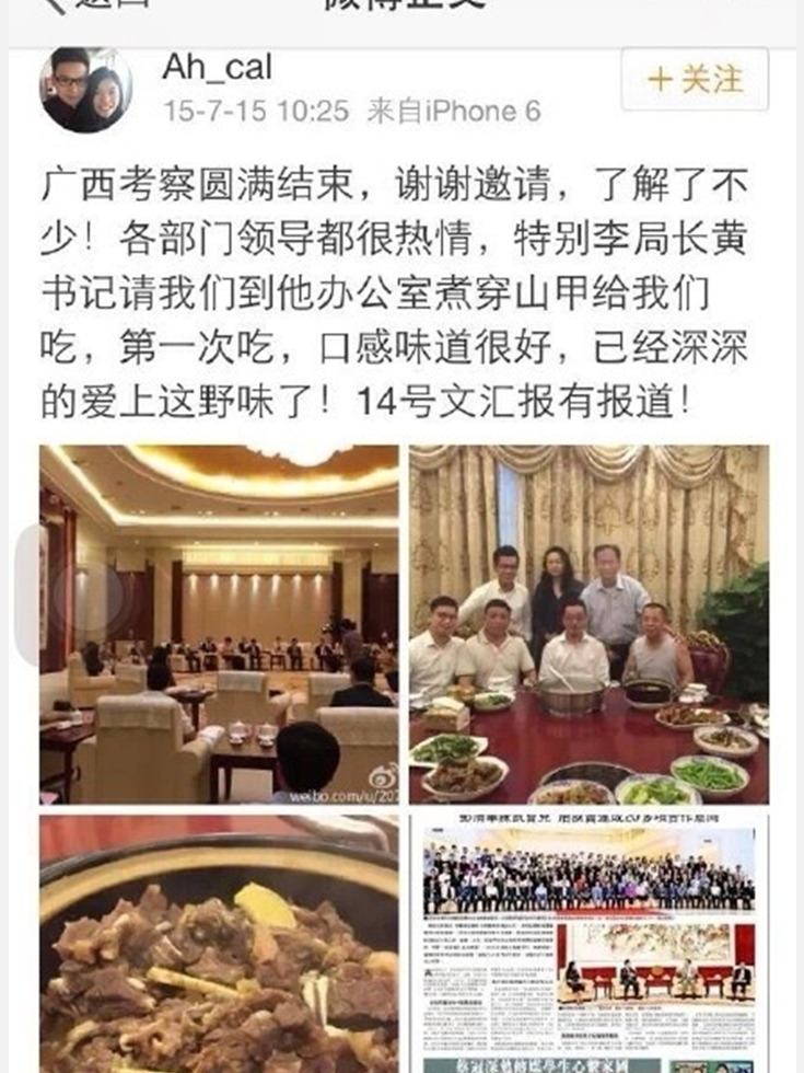 """穿山甲公子加头衔 网侃""""2017反腐第一人"""""""