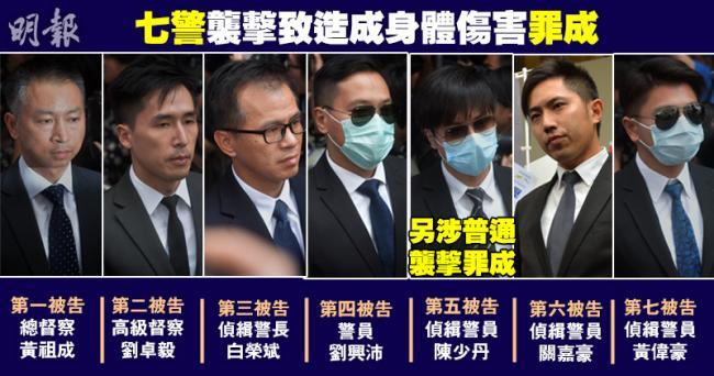 """香港警察殴打""""占中者""""    7人全被定罪"""