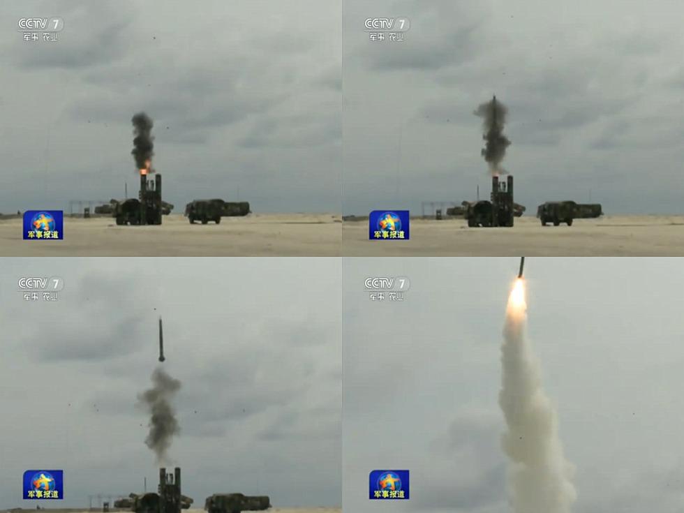 意味深长 解放军红旗-9导弹现身南海