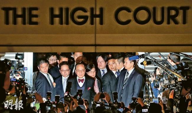 前香港特首曾荫权罪成 可能要被判7年