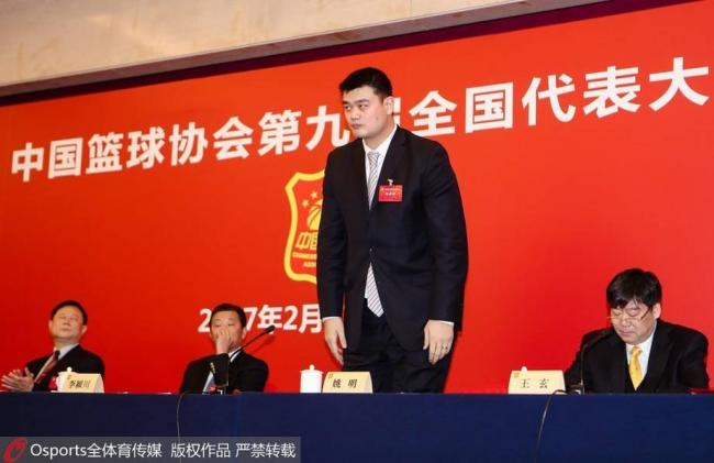 全票 姚明当选中国篮球协会主席