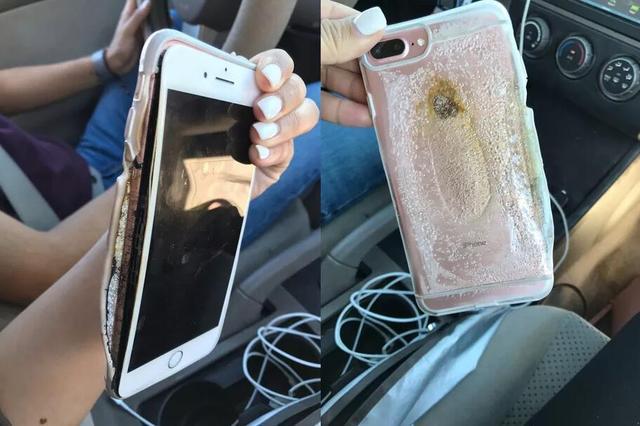 苹果iPhone 7 Plus起火爆炸   成这模样