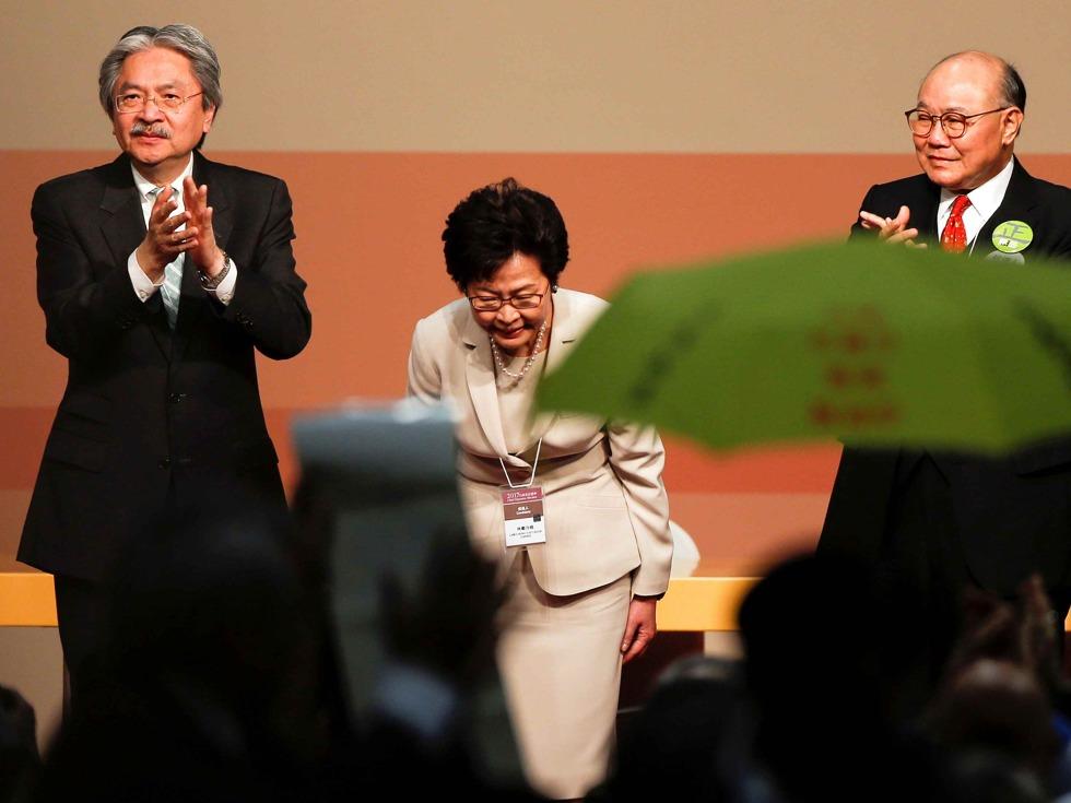 林郑月娥当选港特首 台立委批代表性不足
