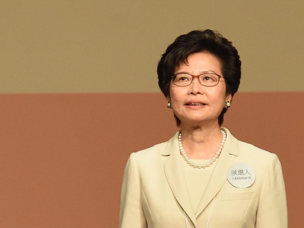 林郑月娥当选香港特首 台朝野反应不一
