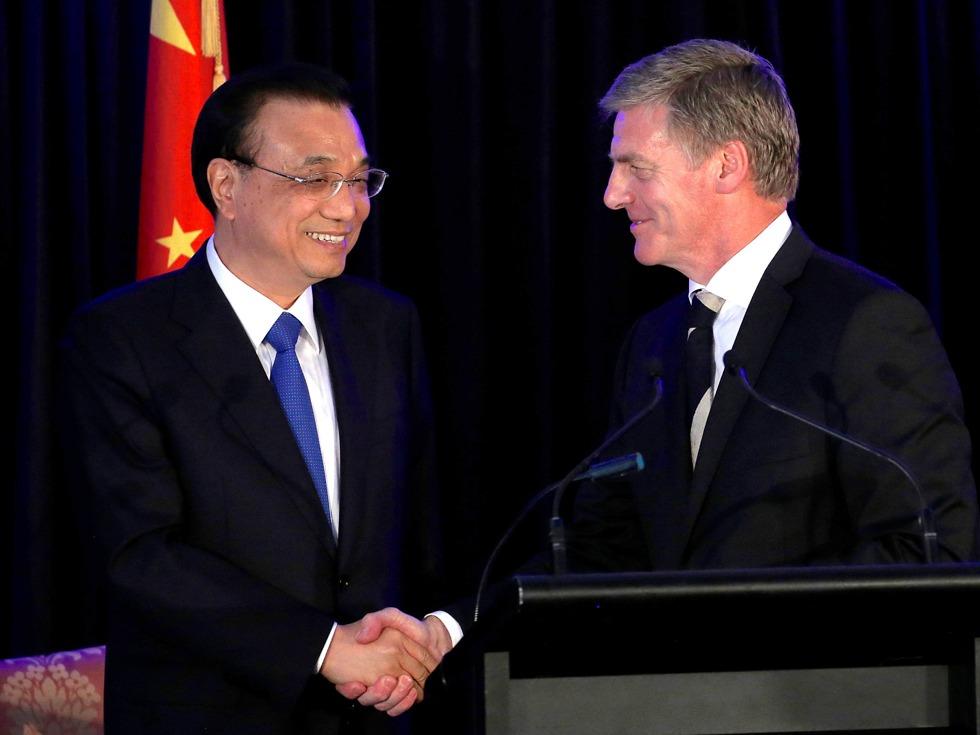 李克强首次访问 新西兰与中国签重磅协议