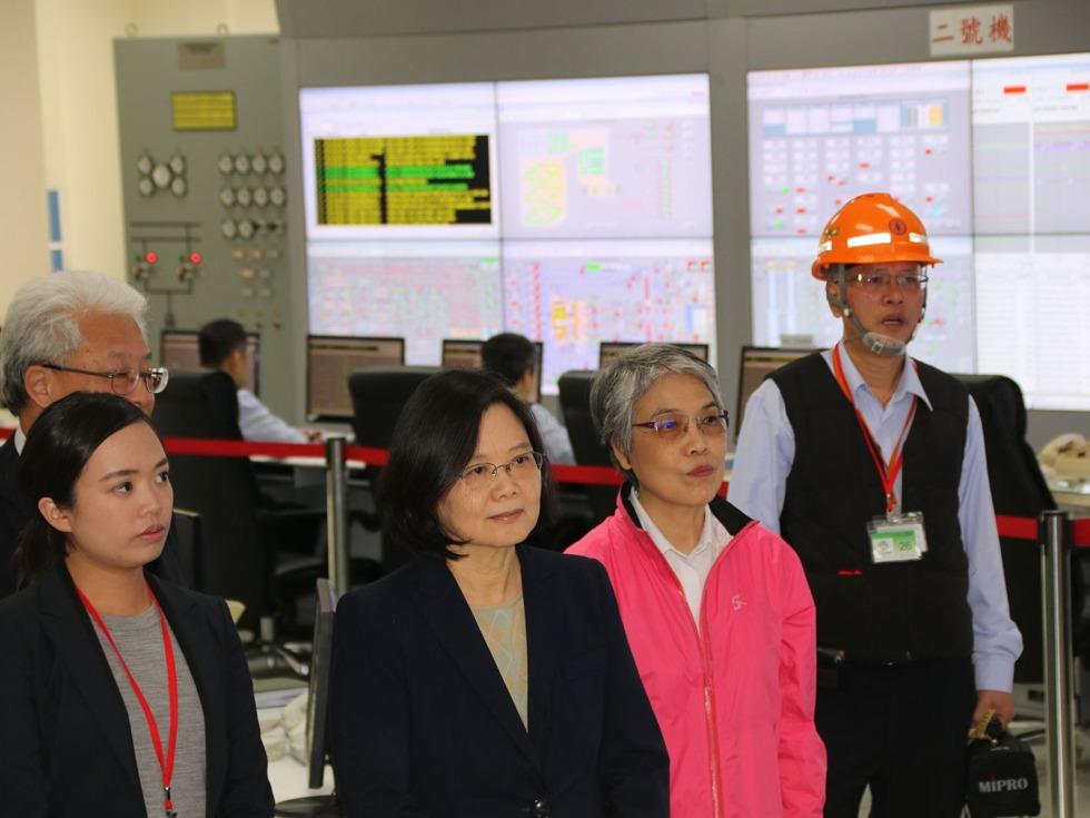蔡英文确保夏季供电稳定 吁发展绿能
