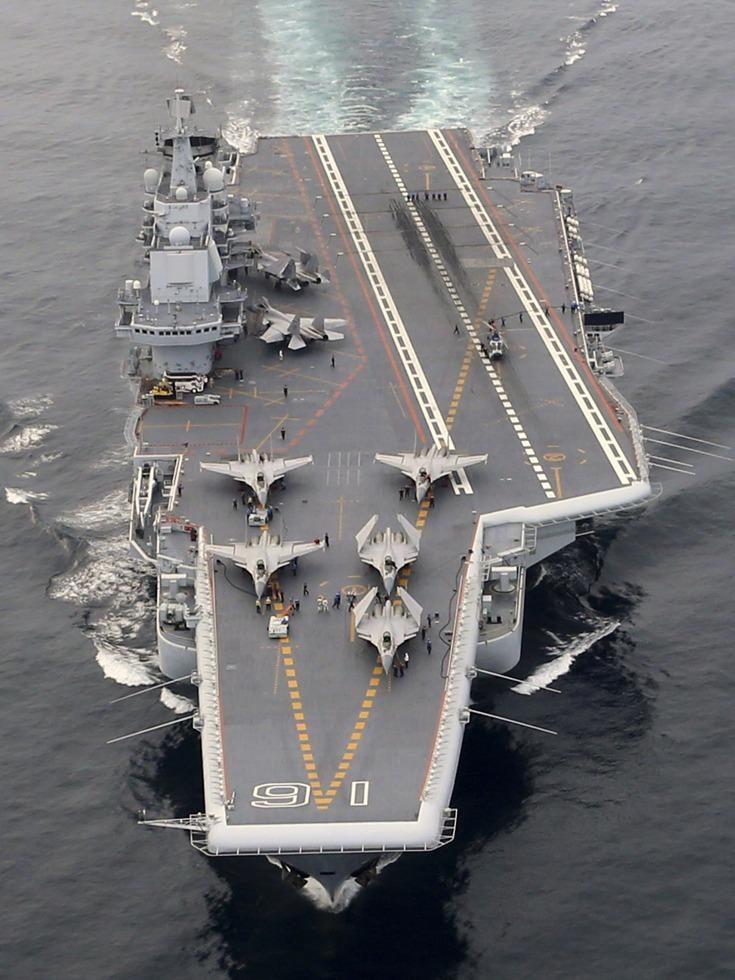 可载36架歼-15 中国新航母提升舰体载