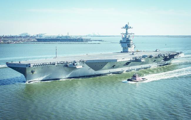 美最强航母开始海试 选在中国航母下水前