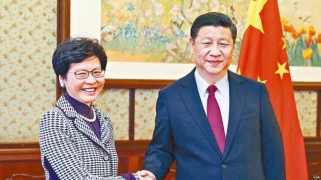 习李见林郑月娥 不提香港推进民主