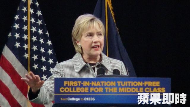 纽约全州大学免费 希拉里惊喜现身挺教育