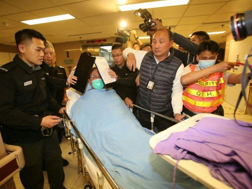 港前特首曾荫权哮喘复发 入狱后二次进院