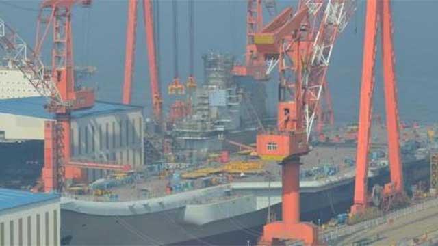 航母即将下水 中国速度2倍于世界水平