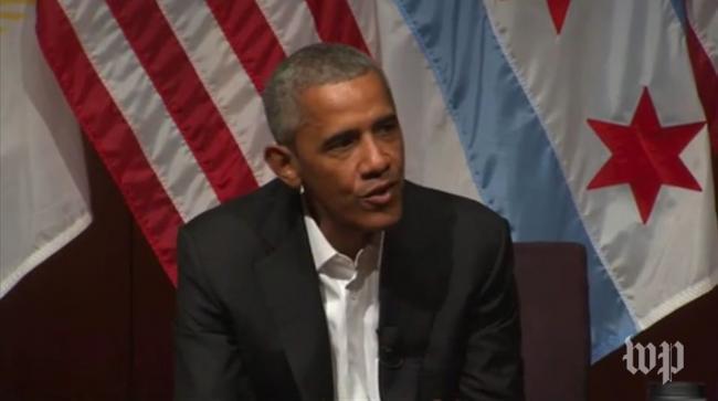 奥巴马卸任后 首次收费演讲赚40万美元