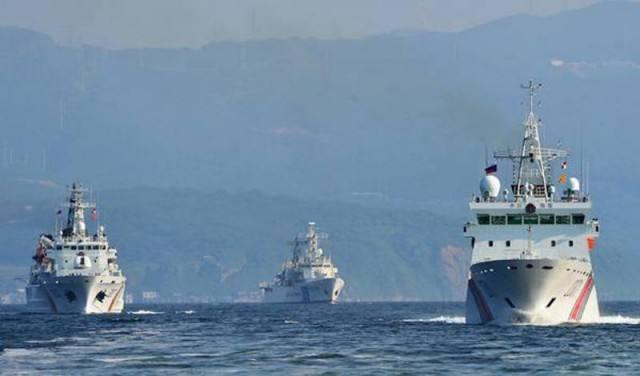 日本巡逻船靠近钓鱼岛 被中方海警船严正警告