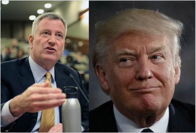 纽约市长杠上川普:数万儿童将因他饿死