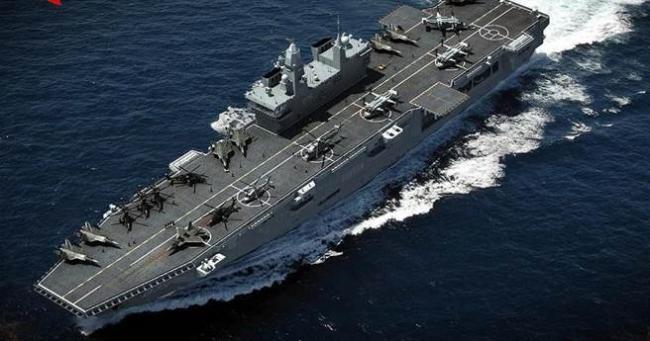 最大两栖攻击舰!大连船厂没建第4艘航母