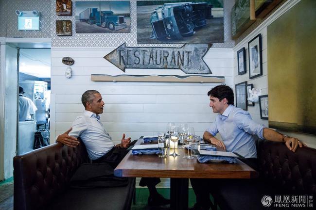 奥巴马来演讲   特鲁多私下与他约饭