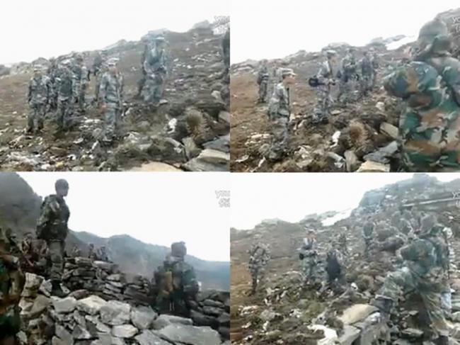 爆:中印军队边境对峙 疑似打架视频传出