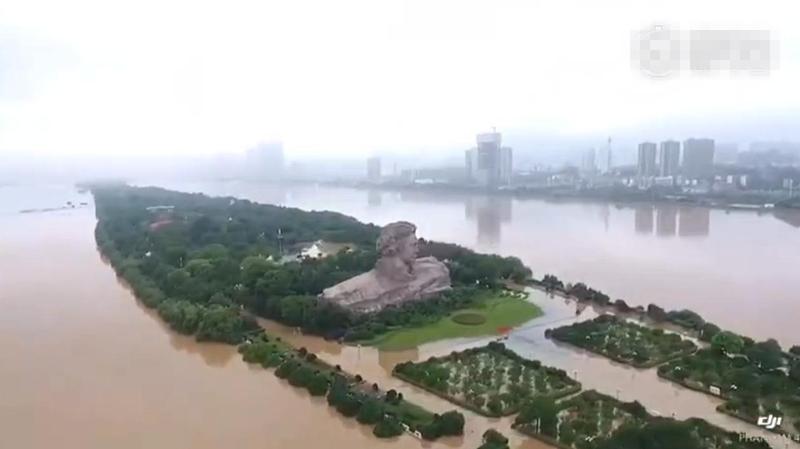 长沙告急:破98年历史水位 洪水贯穿橘子洲
