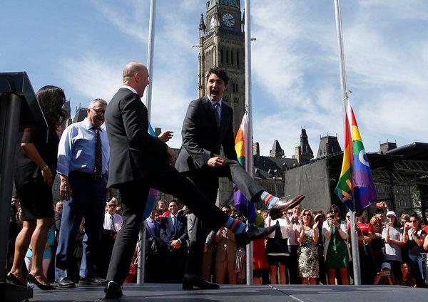 加拿大总理的袜子外交