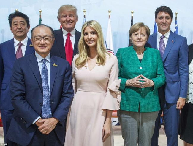 伊万卡G20坐川普的位子  与习近平同桌