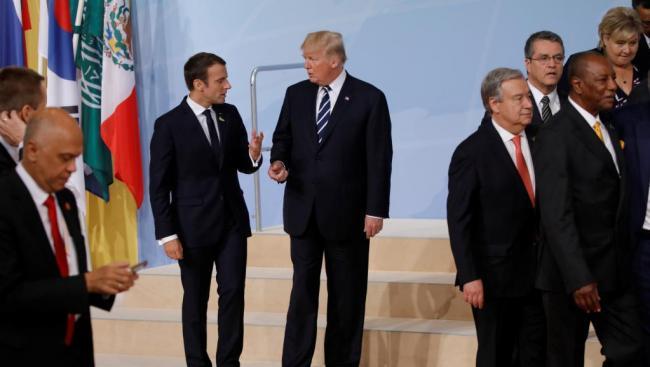 法国总统马克龙毫不客气批评川普
