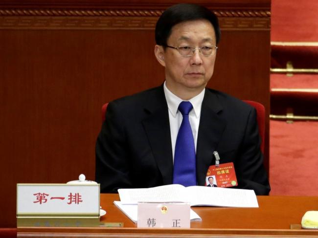 韩正开会表示拥护习核心 迎接十九大