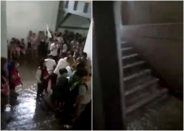 西安暴雨成灾 兵马俑1号坑展厅入水