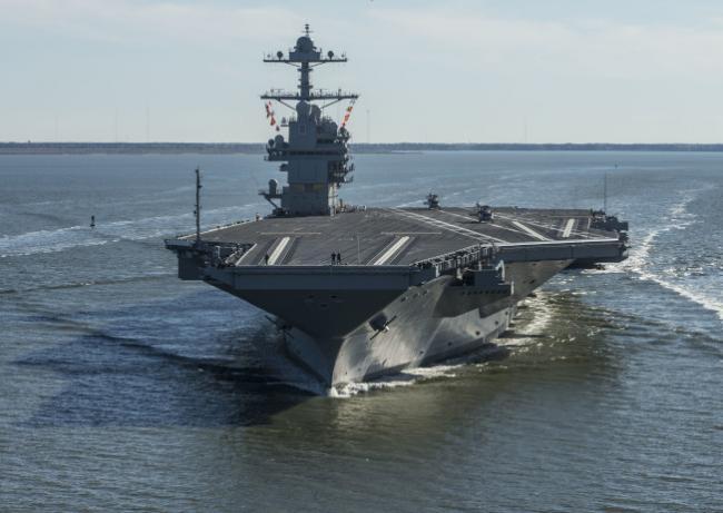 美国福特号领先中国辽宁舰 至少30年