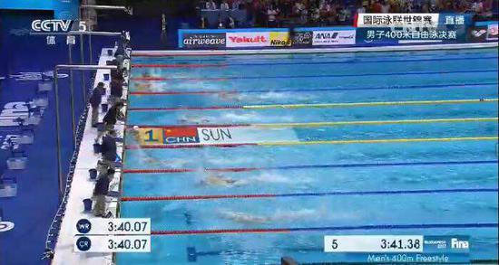 孙杨世锦赛400米自由泳夺冠