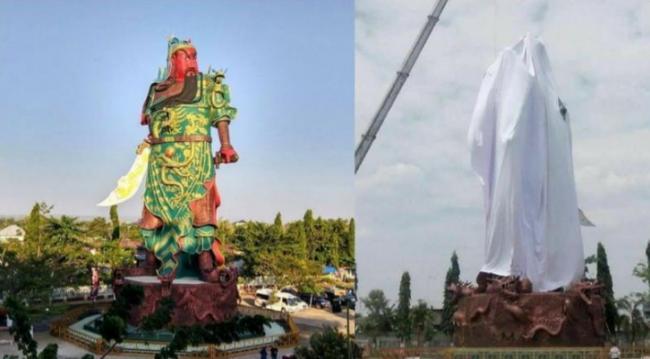 """印尼穆斯林要求拆除巨型""""关公像"""""""