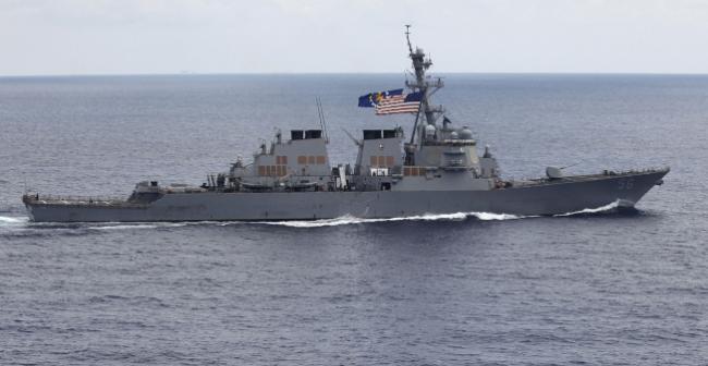 不理中国10度警告 美舰再闯美济礁