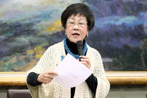 """吕秀莲说台湾大停电是""""阿共的阴谋"""""""