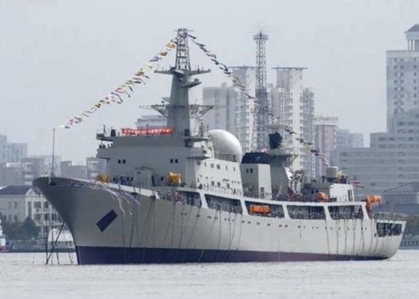 中国新型电子侦察船上海下水 已是第7艘
