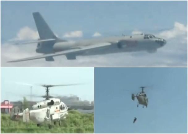 东海磨刀忙:演练战机中弹被迫跳伞