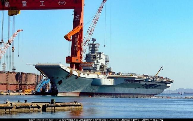 新进展:国产航母顶板雷达安装完毕