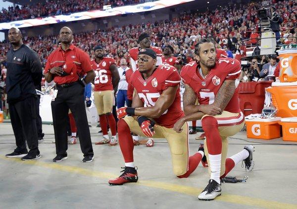NFL球员:为什么我们在奏国歌时下跪抗议